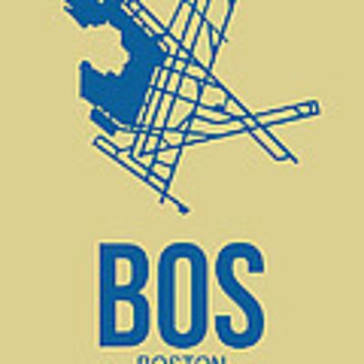 Bos Boston Airport Poster 3 Art Print by Naxart Studio