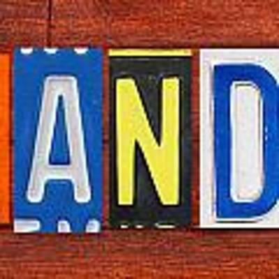 Brandon License Plate Name Sign Fun Kid Room Decor Art Print