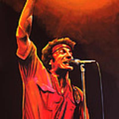 Bruce Springsteen Painting Original by Paul Meijering