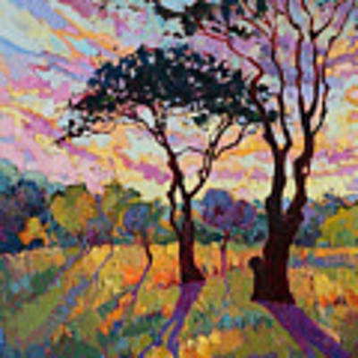 California Sky Quadtych - Lower Left Panel Original by Erin Hanson