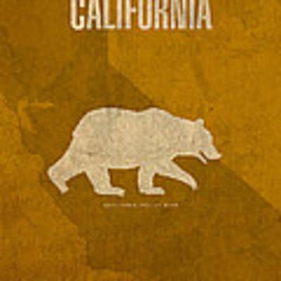 California State Facts Minimalist Movie Poster Art  Art Print