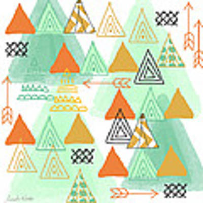 Camping Art Print by Linda Woods