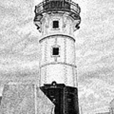 Canal Park Lighthouse Art Print by Rob Christensen