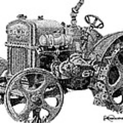 Case Tractor Art Print by Rob Christensen