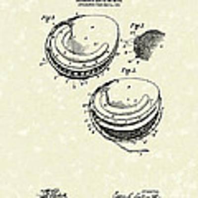 Catcher's Glove 1905 Patent Art Art Print
