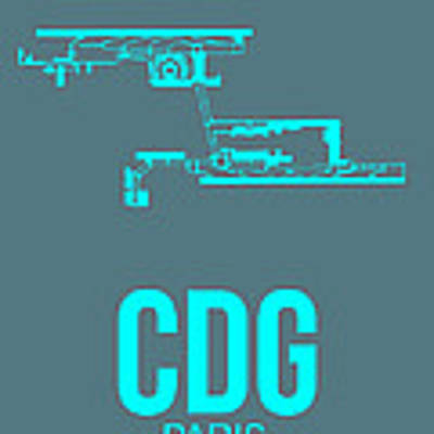 Cdg Paris Airport Poster 1 Art Print by Naxart Studio