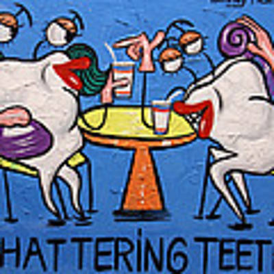 Chattering Teeth Dental Art By Anthony Falbo Art Print by Anthony Falbo