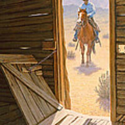 Checking The Line Cabin Art Print by Paul Krapf