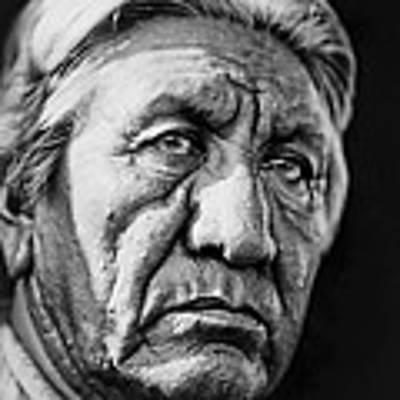 Cheyenne Indian Man Circa 1927 Art Print