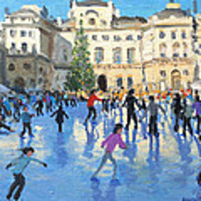 Christmas Somerset House Art Print by Andrew Macara