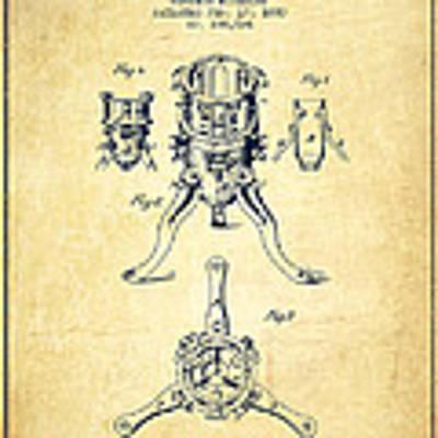 Christmas Tree Holder Patent From 1880 - Vintage Art Print