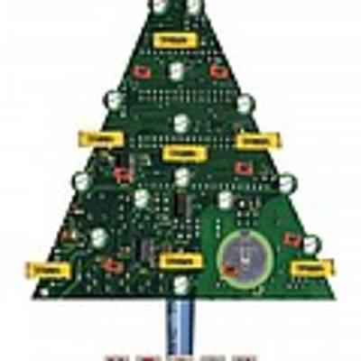 Christmas Tree Motherboard Art Print
