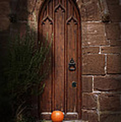 Church Door At Halloween Art Print