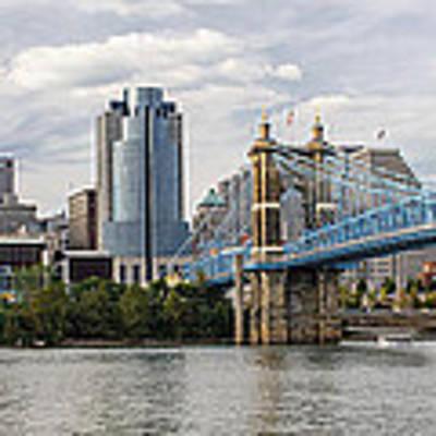 Cincinnati Skyline Art Print by At Lands End Photography