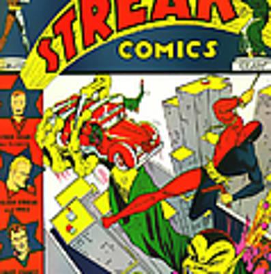 Classic Comic Book Cover - Silver Streak Comics Daredevil - 0320 Art Print
