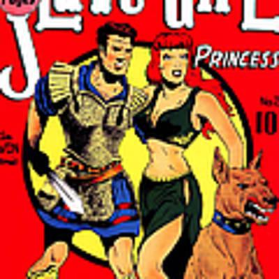 Classic Comic Book Cover - Slave Girl Princess - 1110 Art Print