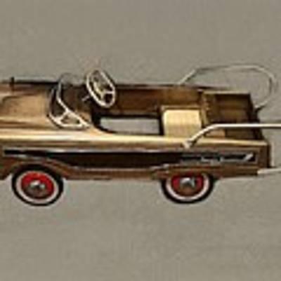 Classic Ranch Wagon Pedal Car Art Print by Michelle Calkins