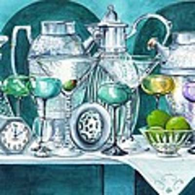 Cocktails At Two Art Print by Jane Loveall