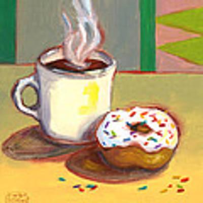 Coffee And Donut Original by Susan Thomas