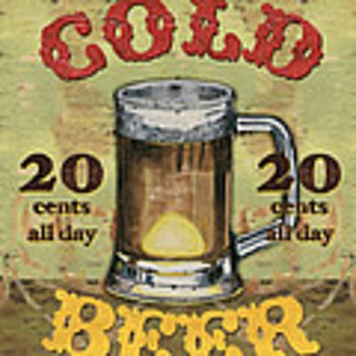 Cold Beer Art Print