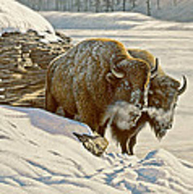 'cold Day At Soda Butte' Art Print