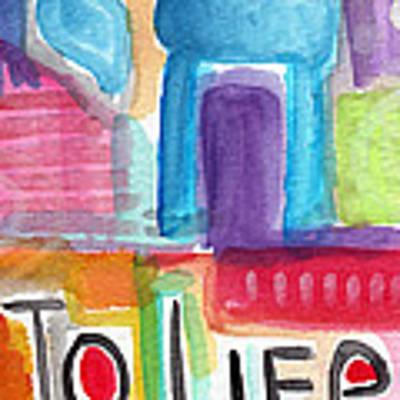 Colorful Life- Abstract Jewish Painting Art Print