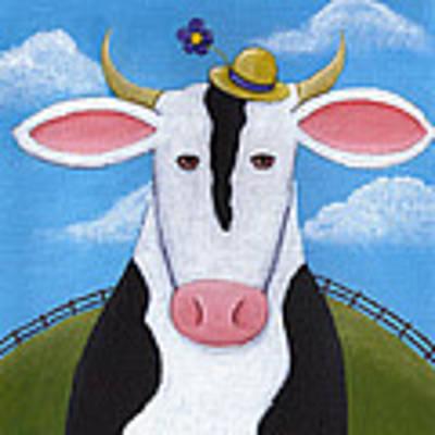 Cow Nursery Wall Art Art Print