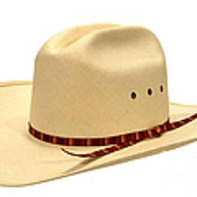 Cowboy Straw Hat Art Print by Olivier Le Queinec