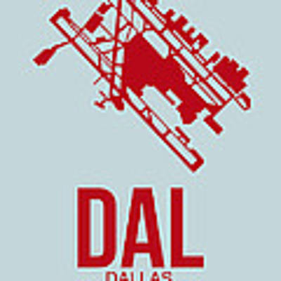 Dal Dallas Airport Poster 3 Art Print