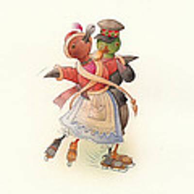 Dancing Ducks 02 Original by Kestutis Kasparavicius