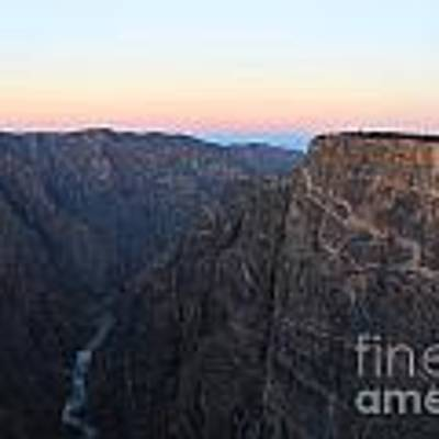 Dawn At The Black Canyon Art Print by Kate Avery