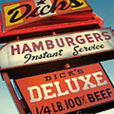 Dick's Hamburgers Art Print by Jim Zahniser