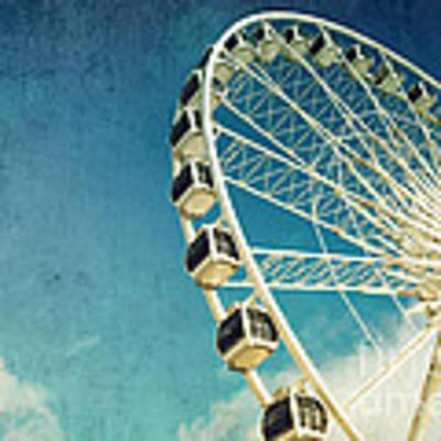 Ferris Wheel Retro Art Print