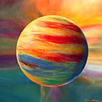 Fire And Ice Ball  Art Print by Robin Moline