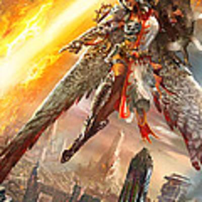 Firemane Avenger Promo Art Print