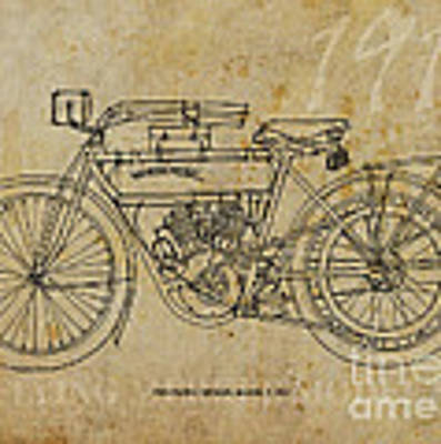 Flying Merkel Model V 1911 Art Print by Drawspots Illustrations