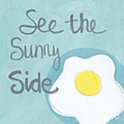 Food- Kitchen Art- Eggs- Sunny Side Up Art Print
