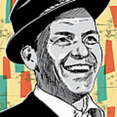 Frank Sinatra Pop Art Art Print by Jim Zahniser