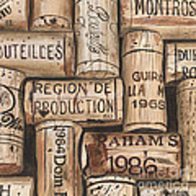 French Corks Art Print