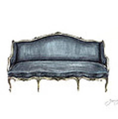 French Settee  Art Print