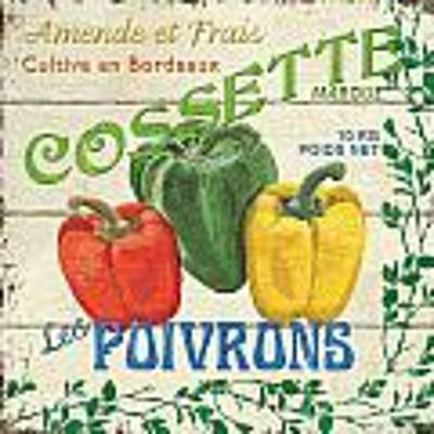 French Veggie Sign 4 Art Print