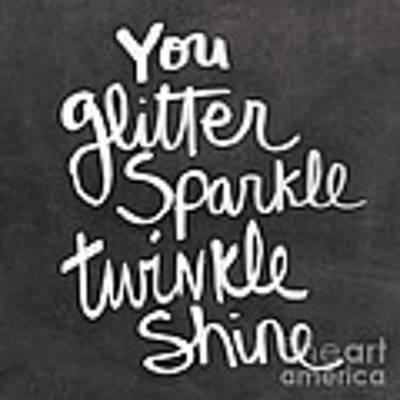 Glitter Sparkle Twinkle Art Print by Linda Woods