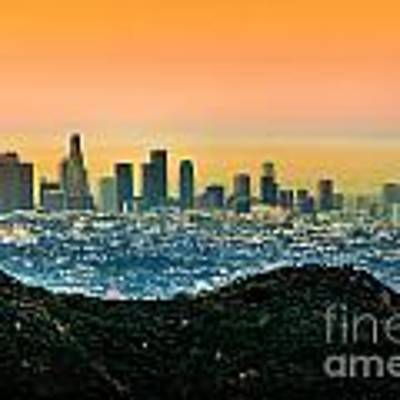 Good Morning La Art Print by Az Jackson