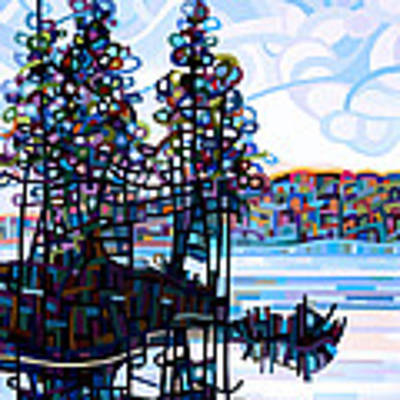 Haliburton Morning Art Print by Mandy Budan