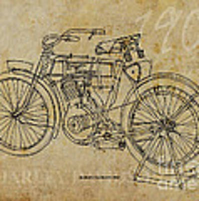 Harley Davidson 1905 Original by Drawspots Illustrations