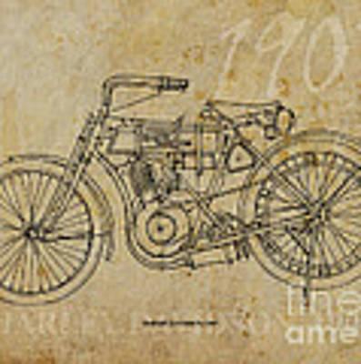 Harley Davidson 1907 Original by Drawspots Illustrations
