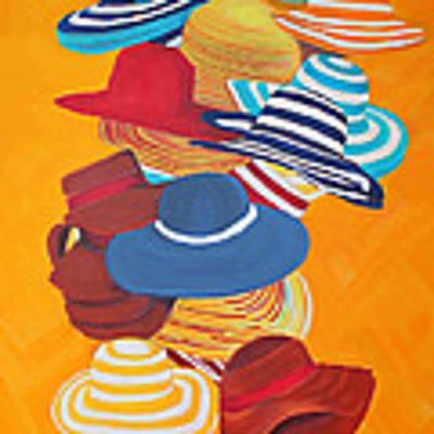 Hats Off Art Print by Deborah Boyd