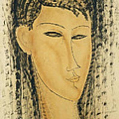 Head Of A Young Women Art Print