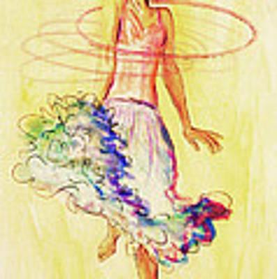 Hoop Dance Art Print by Angelique Bowman