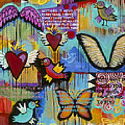 I Have Wings To Fly Art Print by Carla Bank